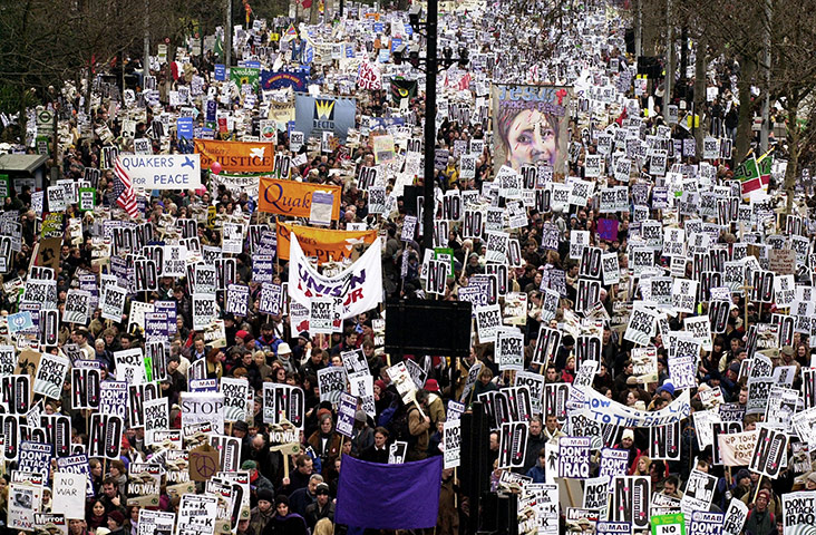 Worldwide Demonstrations Against the Iraq War - Ten Years Later