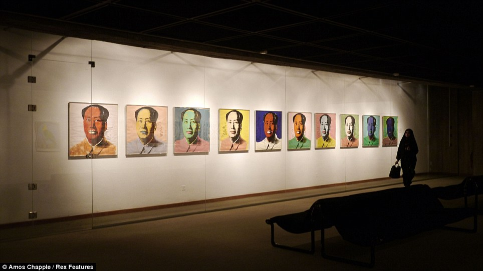 A 2011 Andy Warhol exhibit at The Museum of Contemporary Art in Tehran, Iran.