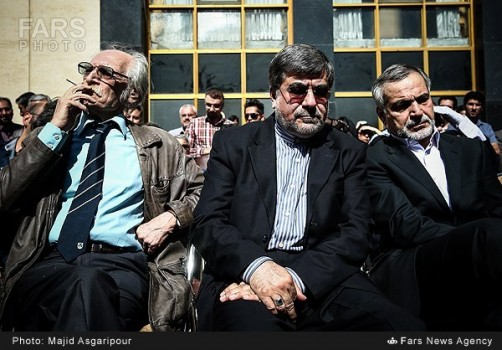 Mahmoud Dolatabadi (L), Ali Jannati (M), Hussein Fereydoon (R), (Photo Credit Fars News Agency).