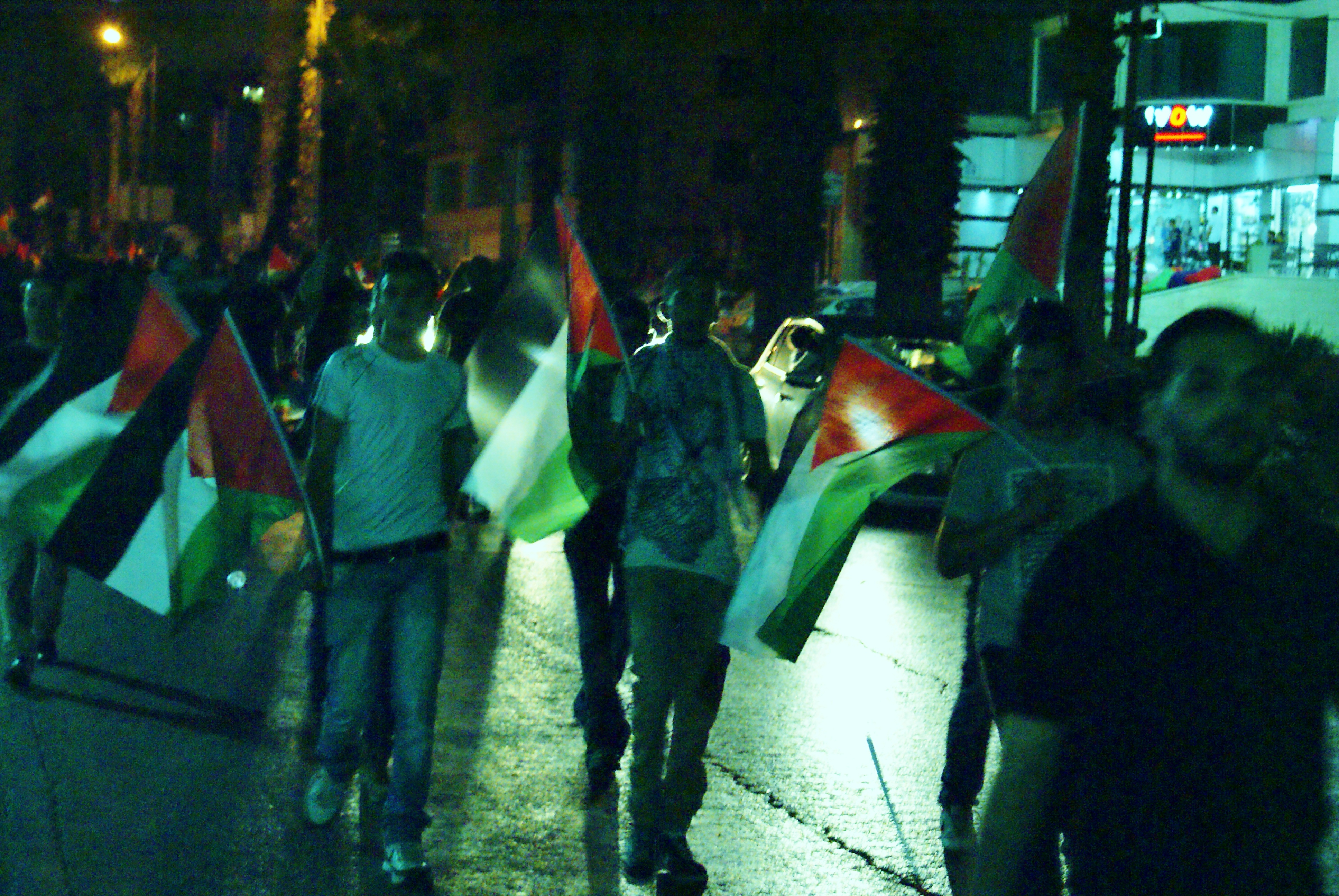July 24, 2014 protests in Ramallah, West Bank ((c) Khalid Diab)