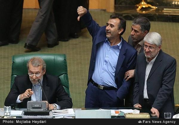 Iranian lawmakers vote to dismiss Science, Research and Technology Minister Reza Faraji-Dana in Tehran, Iran, Wednesday, August 20, 2014