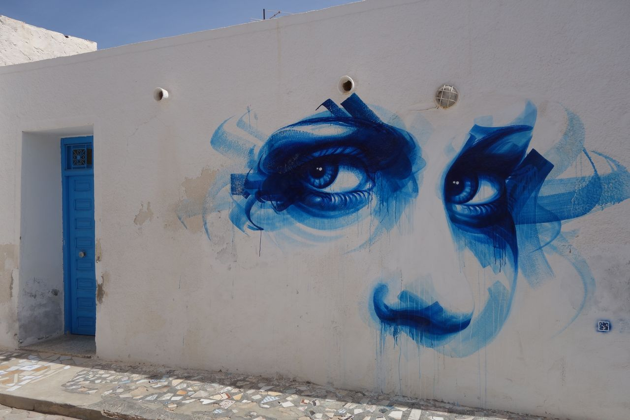 Mural by French artist Dan23 as part of Djerbahood project (Photo credit: Rani777, Wikipedia)