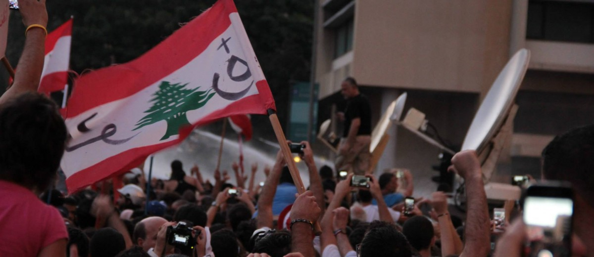 Lebanon's #YouStink protest, August 23, 2015 (Photo source: YouStink Facebook page)