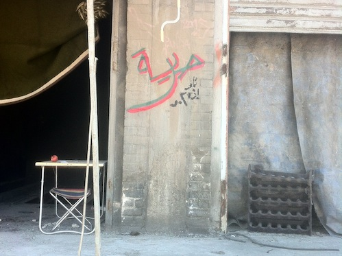 """""""Freedom (horeya)..now in 3-D!"""" Photo courtesy of the artists."""
