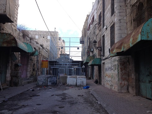Picture 2: New inspection machine at checkpoint 56 controlling access to Shuhada Street [Photo: EAPPI/Sabrina Tucci]