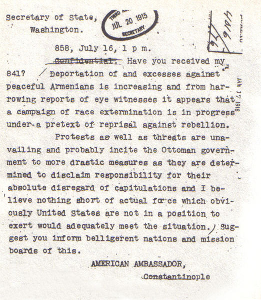 A-telegram-written-by-Morgenthau-to-the-State-Department-in-1915-described-the-massacres-of-Armenians-in-the-Ottoman-Empire-as-a-campaign-of-race-extermination