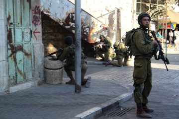 Israeli soldiers in Hebron
