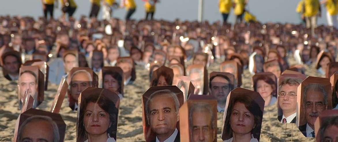 Images of the Baha'i Seven at a rally in Brazil (Photo Credit: Comunidade Bahá'í do Brasil/Wikipedia)