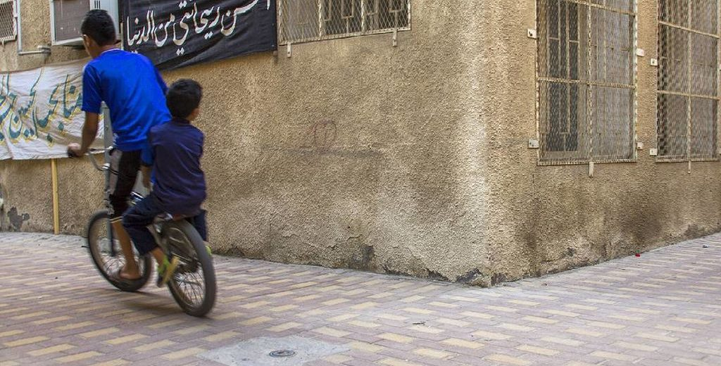 One of the many alleys of Saudi Arabia's Eastern province, to which the town of Awamia belongs