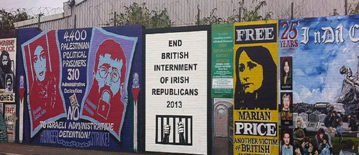 Political murals of political prisoners in Northern Ireland
