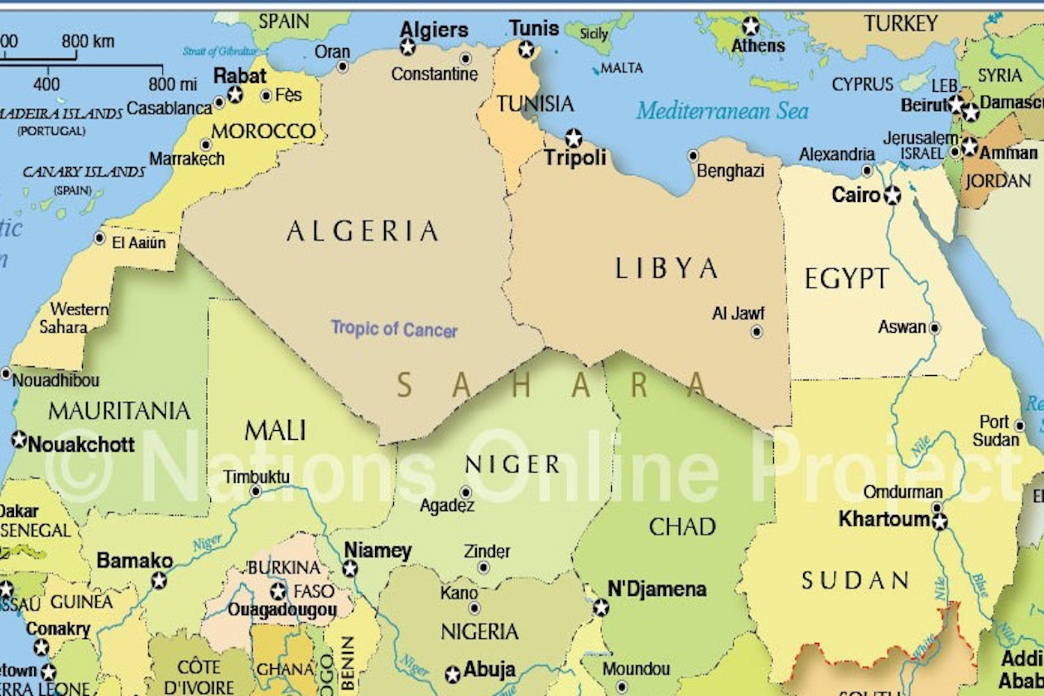 North Africa Map.Rethinking North African Border Security
